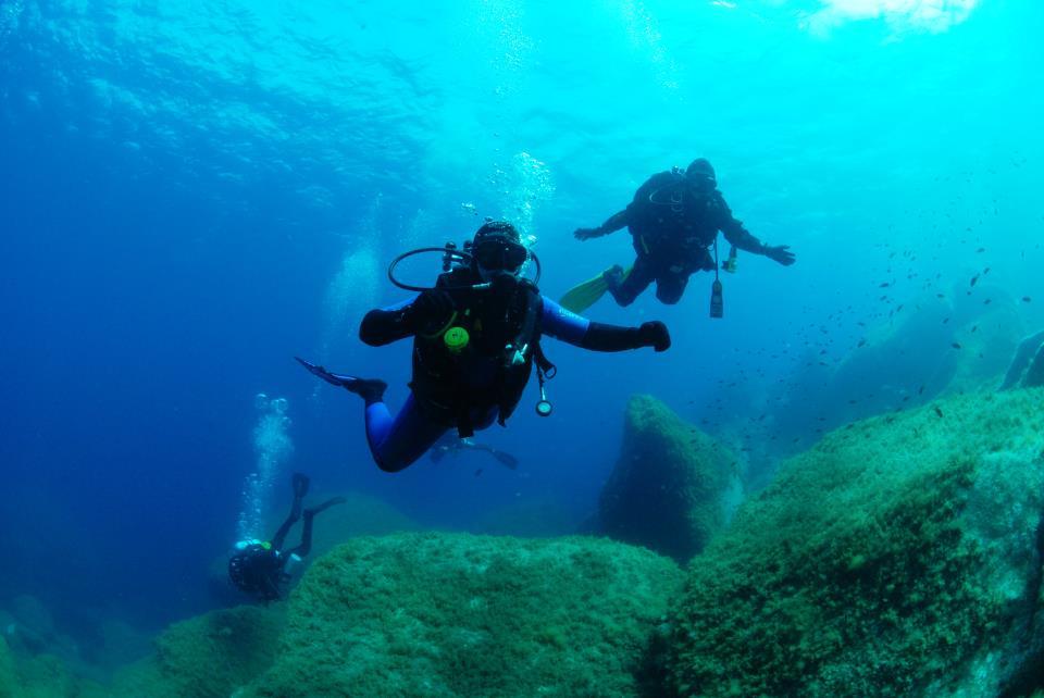 Tandem Scuba Diver